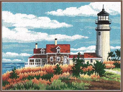 click here to view larger image of Lighthouse Solitude (needlepoint)