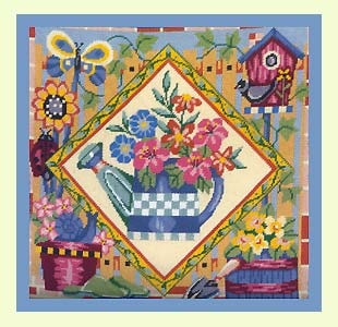 click here to view larger image of Country Garden (needlepoint)