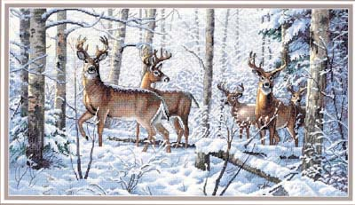 click here to view larger image of Woodland Winter (counted cross stitch kit)