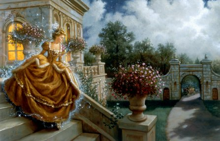click here to view larger image of Cinderella on the Stairs (chart)