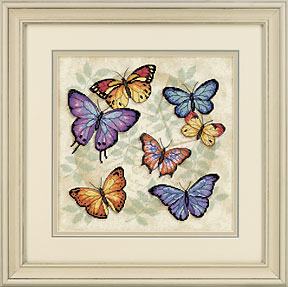 click here to view larger image of Butterfly Profusion (counted cross stitch kit)