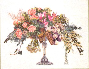 click here to view larger image of Winter Bouquet - Linen (counted cross stitch kit)