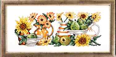 click here to view larger image of Yellow Flowers (counted cross stitch kit)