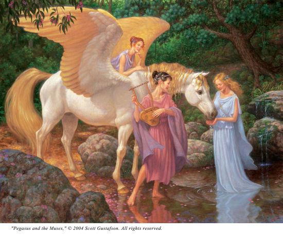 click here to view larger image of Pegasus and the Muses (chart)