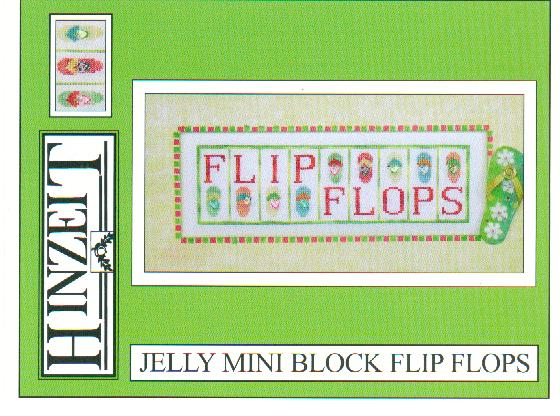 click here to view larger image of Flip Flops - Jelly Mini Block (chart with charms/buttons)