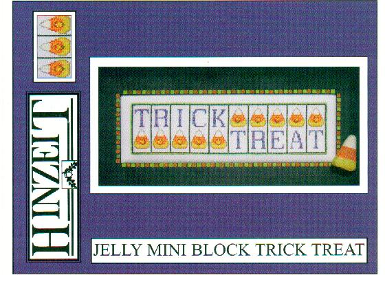 click here to view larger image of Trick Treat - Jelly Mini Block (chart with charms/buttons)