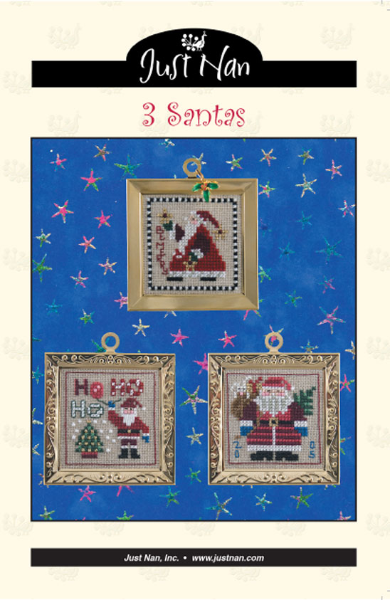 click here to view larger image of Three Santas (chart)