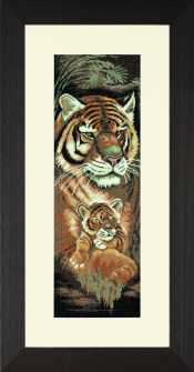 click here to view larger image of Maternal Instincts - Tiger and Cub - 27ct (counted cross stitch kit)