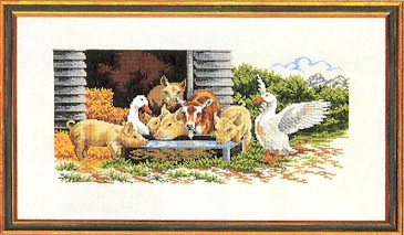 click here to view larger image of Barnyard Friends (counted cross stitch kit)