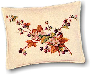 click here to view larger image of Blackberries Pillow (counted cross stitch kit)