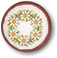 click here to view larger image of Daisy Pincushion (counted cross stitch kit)