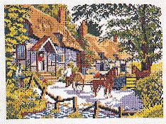 click here to view larger image of Delivery By Horse & Wagon (counted cross stitch kit)
