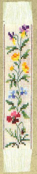 click here to view larger image of Floral Bookmark (counted cross stitch kit)