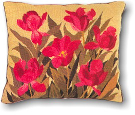 click here to view larger image of Floral Pillow (needlepoint)