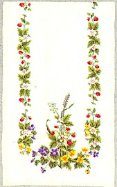 click here to view larger image of Floral Tablerunner (counted cross stitch kit)