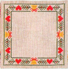 click here to view larger image of Hearts & Pines Doily (counted cross stitch kit)