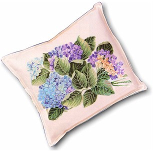 click here to view larger image of Hydrangea Pillow (counted cross stitch kit)