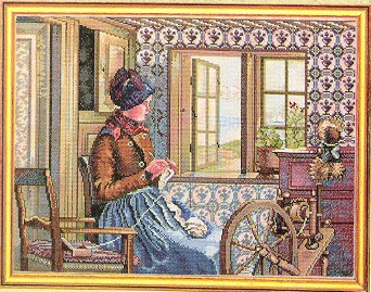 click here to view larger image of Knitter (counted cross stitch kit)