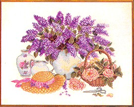 click here to view larger image of Lilac Cuttings (counted cross stitch kit)