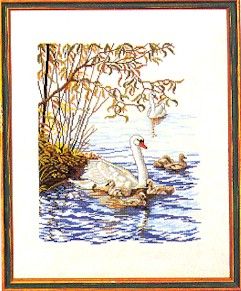 click here to view larger image of Mother Swan (counted cross stitch kit)