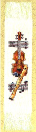 click here to view larger image of Musical Bookmark (counted cross stitch kit)