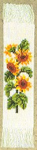 click here to view larger image of Sunflower Bookmark (counted cross stitch kit)