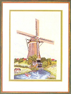 click here to view larger image of Windmill (counted cross stitch kit)