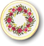 click here to view larger image of Wreath Handbag Mirror (counted cross stitch kit)