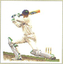 click here to view larger image of Cricket/Baseball (counted cross stitch kit)