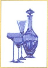 click here to view larger image of Blown Blue Glass (counted cross stitch kit)