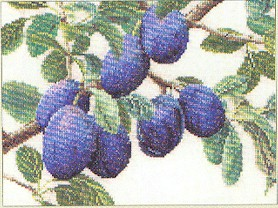 click here to view larger image of Branch Of Plums (counted cross stitch kit)