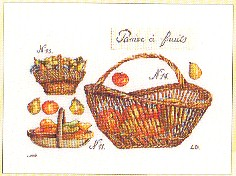 click here to view larger image of Fruit Baskets (counted cross stitch kit)