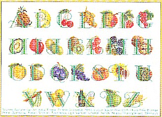 click here to view larger image of Fruit Sampler (counted cross stitch kit)