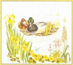 click here to view larger image of Mallards (counted cross stitch kit)