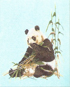 click here to view larger image of Panda Bear (counted cross stitch kit)
