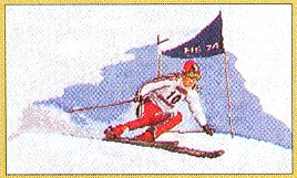 click here to view larger image of Racing Snow Skier (counted cross stitch kit)