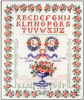 click here to view larger image of Sampler - Wedding (counted cross stitch kit)
