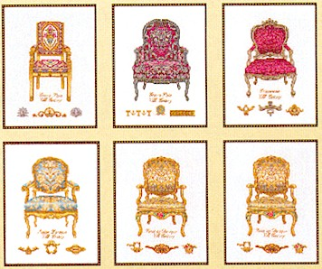 click here to view larger image of Six Chairs - Linen (counted cross stitch kit)