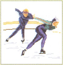 click here to view larger image of Speed Skating (counted cross stitch kit)