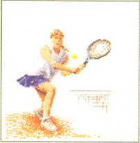 click here to view larger image of Tennis - Linen (counted cross stitch kit)