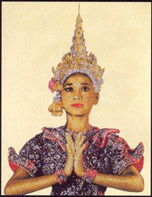 click here to view larger image of Thai Lady (counted cross stitch kit)