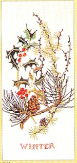 click here to view larger image of Winter Bouquet (counted cross stitch kit)