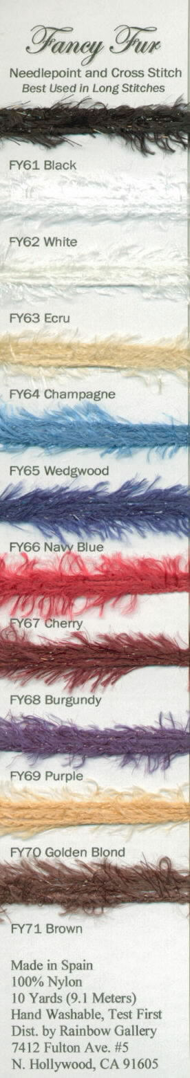 click here to view larger image of Rainbow Gallery - Fancy Fur (fibers)