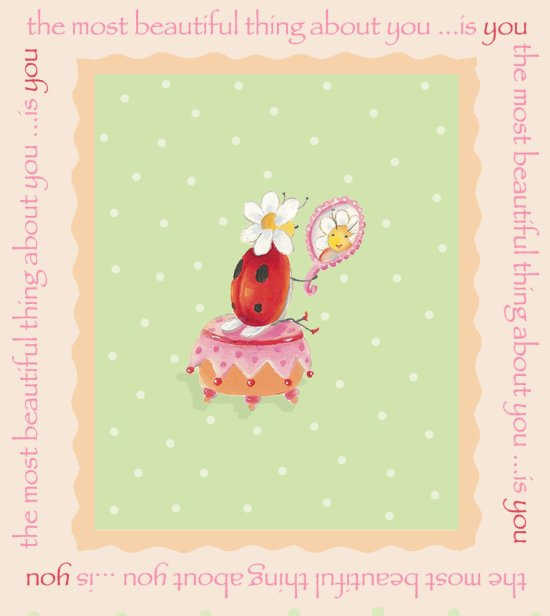 click here to view larger image of Lady Bug On Pink Cushion (chart)