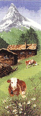 click here to view larger image of Alpine Meadow by John Clayton - International  (counted cross stitch kit)