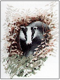 click here to view larger image of Badger - Wildlife Collection  (counted cross stitch kit)