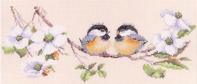 click here to view larger image of Blossom Buddies  (counted cross stitch kit)