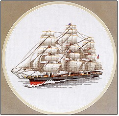 click here to view larger image of Cutty Sark by Dave Shaw - Ships (counted cross stitch kit)