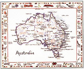 click here to view larger image of Australia Map (chart)