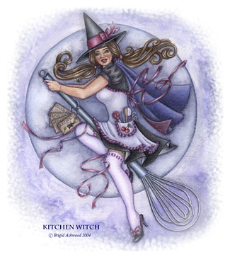 click here to view larger image of Kitchen Witch - Quick Stitch (chart)